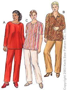 Kwik Sew Women Tunics & Pants 3203