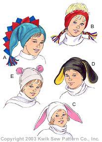 Kwik Sew Adult & Children Hats 3208