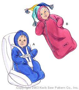 Kwik Sew Babies Buntings 3212