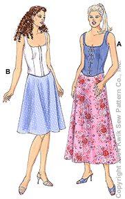 Kwik Sew Misses Tops & Skirts 3220