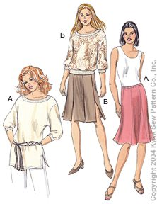 Kwik Sew Misses Tops & Skirts 3231