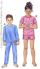 Kwik Sew Unisex Children Pajamas 3234