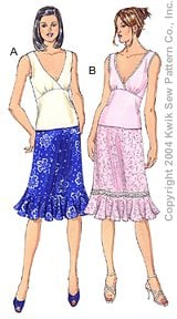 Kwik Sew Misses Tops & Skirts 3240