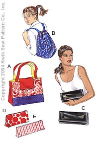 Kwik Sew Crafts Bags & Cases 3249