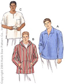 Kwik Sew Men Shirts 3250