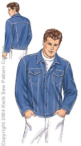 Kwik Sew Men Jean Jacket 3251
