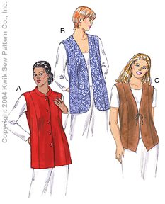 Kwik Sew Women Vests 3257
