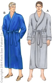Kwik Sew Men Robes 3266