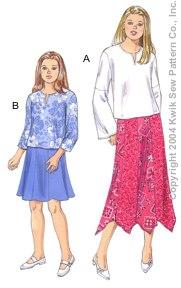 Kwik Sew Girls Tops & Skirts 3274
