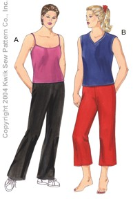 Kwik Sew Women Pants & Tops 3277