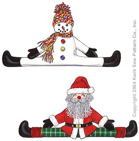 Kwik Sew Crafts Snowman and Santa Draft Stopper 3279