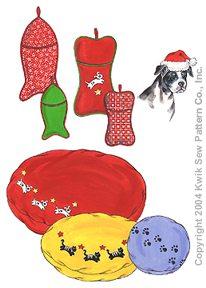 Kwik Sew Crafts Pet Stockings, Pillow, Santa Hat & Appliques 3281