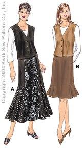 Kwik Sew Misses Skirts & Vests 3287