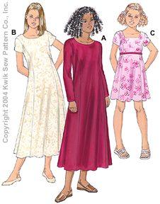 Kwik Sew Girls Dresses 3291