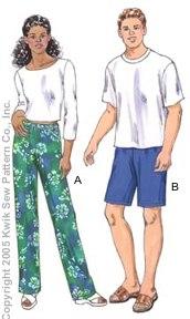 Kwik Sew Unisex Adults Pants 3345