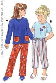 Kwik Sew Girls Pants & Shirts 3349