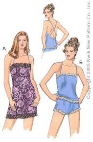 Kwik Sew Misses Chemise, Camisole & Panties 3351