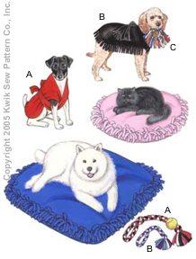 Kwik Sew Crafts Pet Pillows, Jackets & Toys 3357