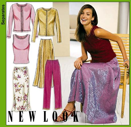 New Look Misses Pants, Skirts, Knit Jacket and Top 6034