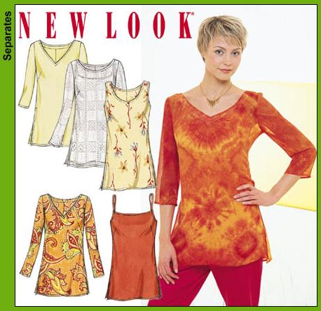 New Look Misses Tunic Tops 6086