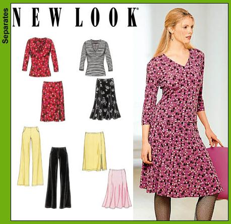 New Look Misses Top, Skirts and Pants 6101