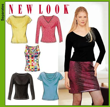 New Look Misses Knit Tops 6106OOP