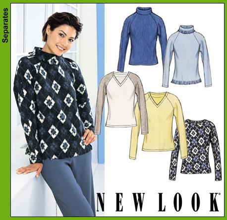New Look Misses Knit Tops 6143