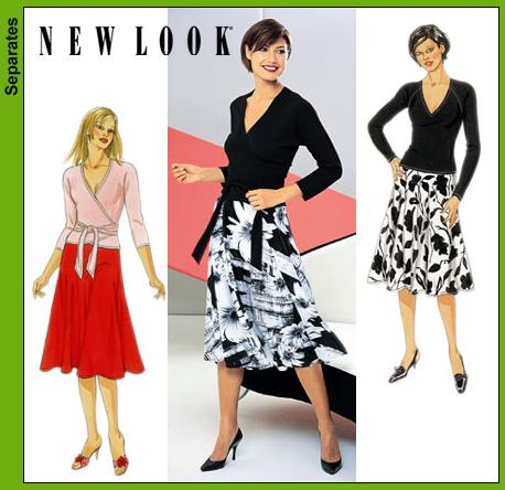 New Look Misses Skirt and Knit Tops 6149