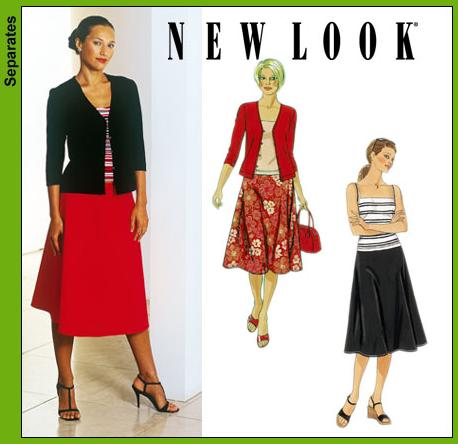 New Look Misses Skirt, Knit Jacket and Tank Top 6158