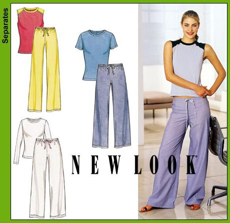 New Look Misses Pants and Knit Tops 6160