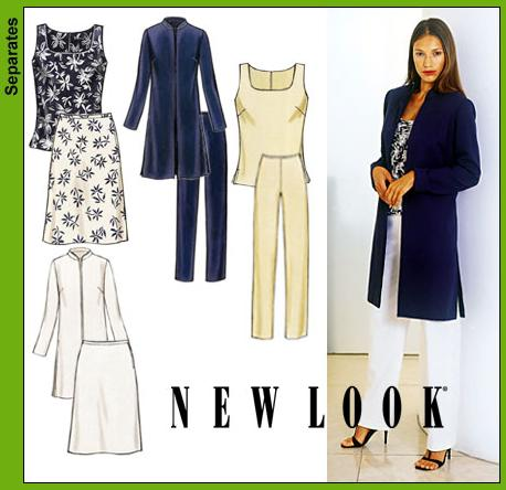 New Look Misses Jacket, Top, Pants and Skirt 6163