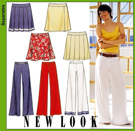 New Look Misses Pants and Skirts 6190