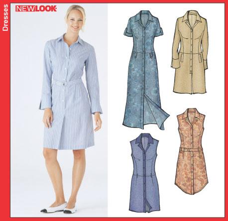 New Look Misses Shirt Dress 6214