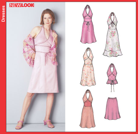 New Look Misses Halter Dress or Top and Skirt 6242OOP