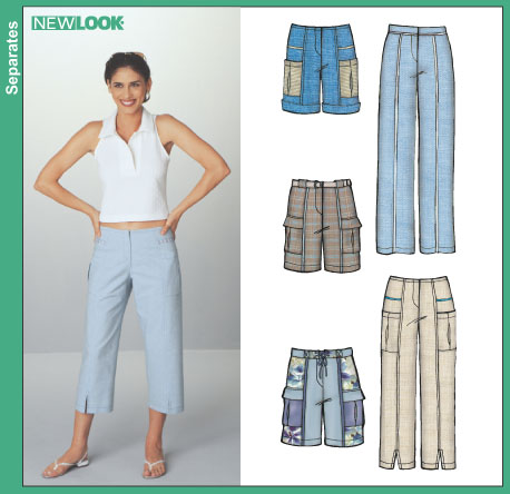 New Look Misses Pants and Shorts 6251OOP