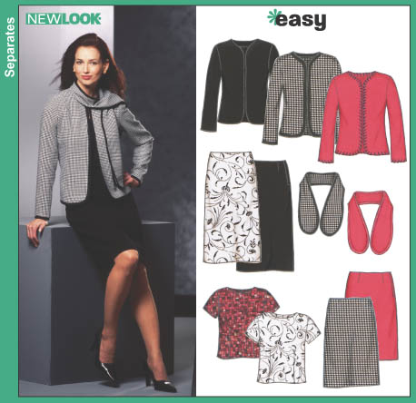 New Look Misses Jackets, Top, Skirts, Scarf 6290