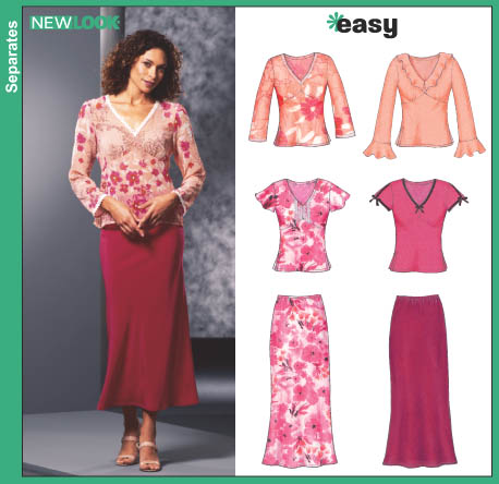 New Look Misses Tops and Skirt 6294
