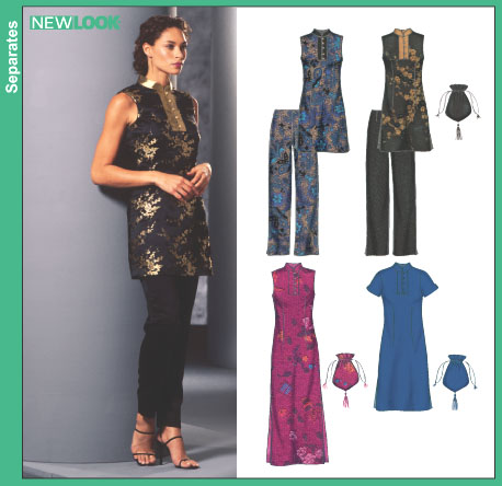New Look Misses Evening Dress, Tnunic and Pants 6295