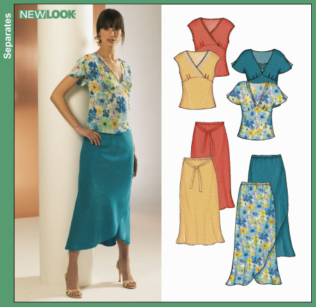New Look Misses Tops and Skirts 6325