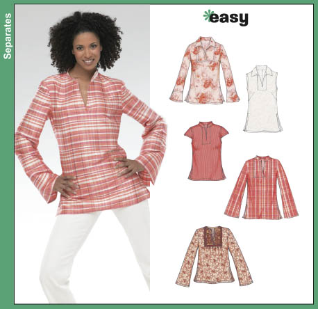New Look Misses Tunic and Top 6344
