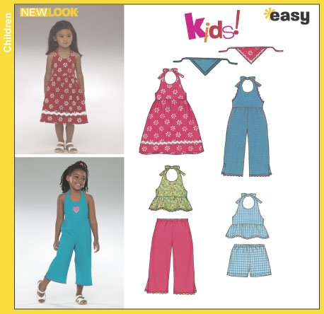 New Look Childs Sundress, Romper, Top, Pants, Shorts and Head Scarf 6361