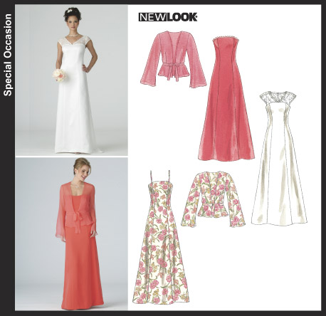 New Look Misses' Gowns and Jacket 6379