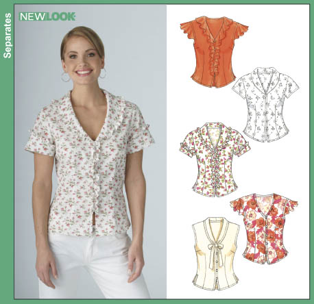 New Look Misses' Blouses 6387