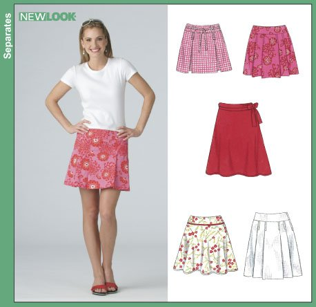 New Look Misses' Skirts In Two Lengths 6388