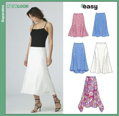 New Look Misses' Skirts 6389