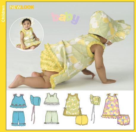 New Look Babies' Dresses, Tops, Pants, Panties and Bonnet 6394