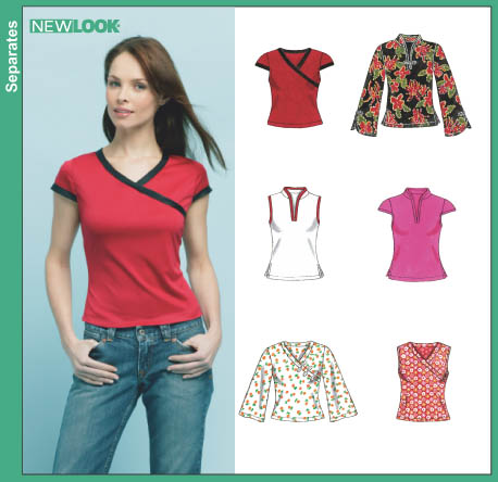 New Look Misses' Knit Tops 6405