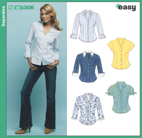 New Look Misses' Shirts 6407