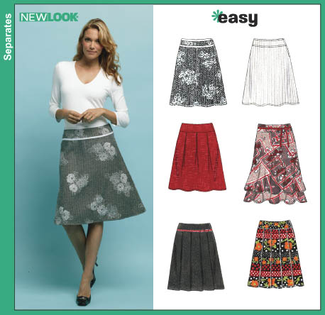 New Look Misses' Skirts 6410