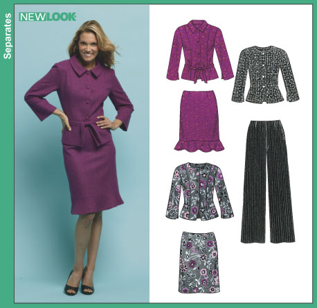 New Look Misses' Jacket, Skirt, and Pants 6412